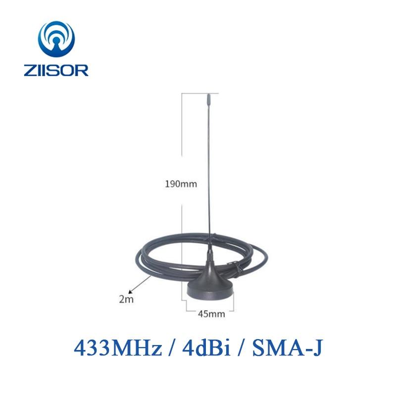 2pcs 433MHz Antenna With Magnetic Base 433M Omnidirectional Antennas SMA Male Lora Antena 4dBi TX433-XP-200