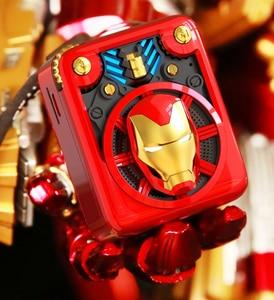 Nuevo altavoz inalámbrico de Marvel The Avengers Iron Man AI con Bluetooth inteligente, Mini reproductor inteligente de música portátil de Metal, radio FM
