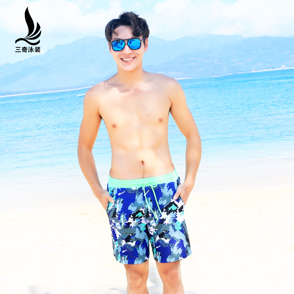 Manufacturers Direct Selling Summer New Products Sanqi MEN'S Swimming Trunks Slim Fit Short Shorts Plus-sized Seaside Surfing Ca