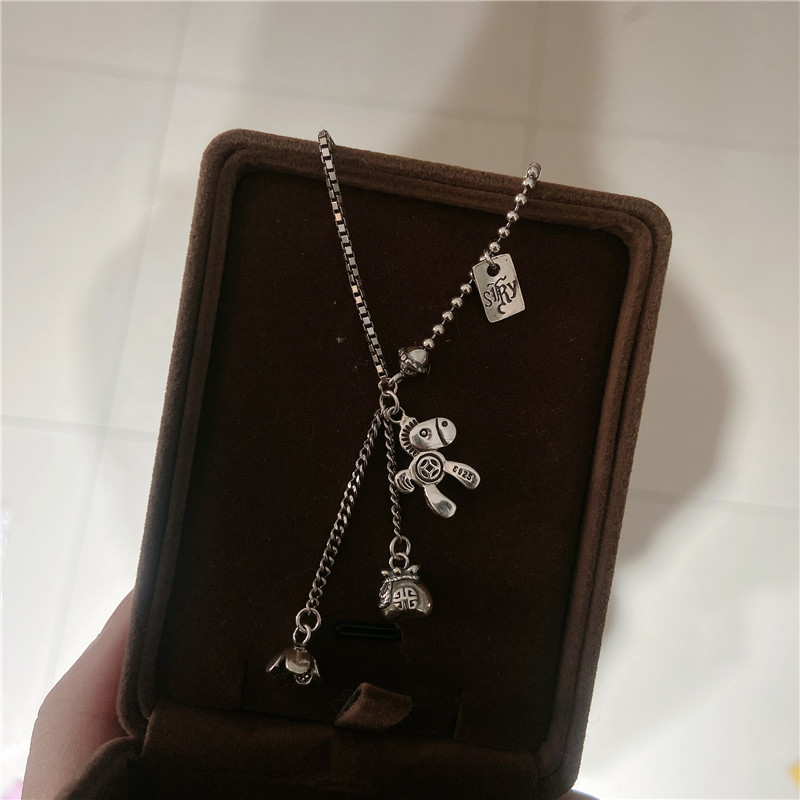 H558b5073809f44bdab1faf7549e747e0q - AOMU New Pony Pendant Money Bag Flowers Tassel Retro Make Old Hip Hop Sweater Chain Long Necklace for Women Men Jewelry