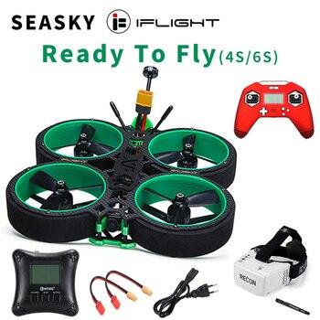 SEASKY iFlight Green Hornet FPV Racing Drone 3inch RTF Frsky Taranis X-Lite SucceX-E F4 35A ESC 500mW VTX FatShark v2 HD Goggles