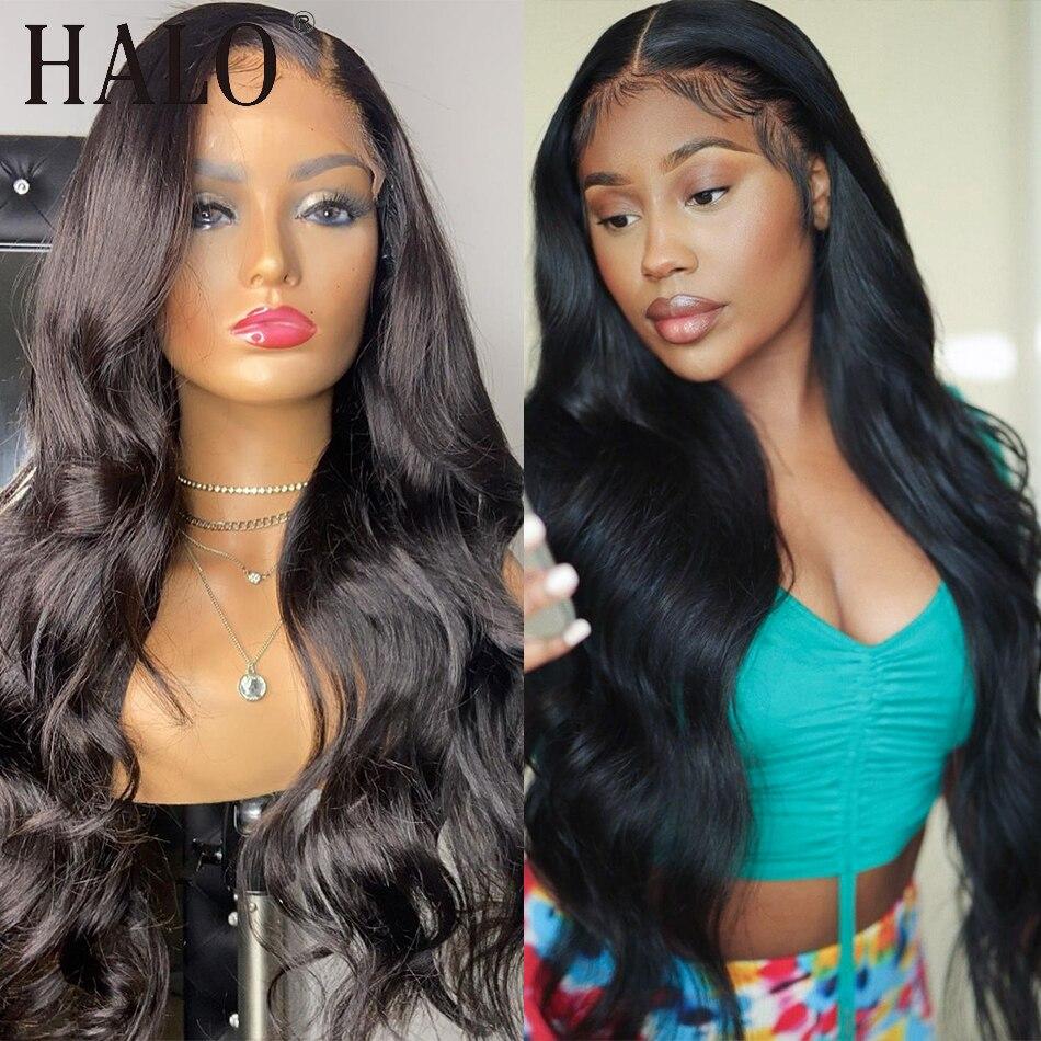HD Transpare 30 40 дюймов бразильские 13x6 Синтетические волосы на кружеве парики из натуральных волос объемная волна бесклеевой фронтальной парик ч...