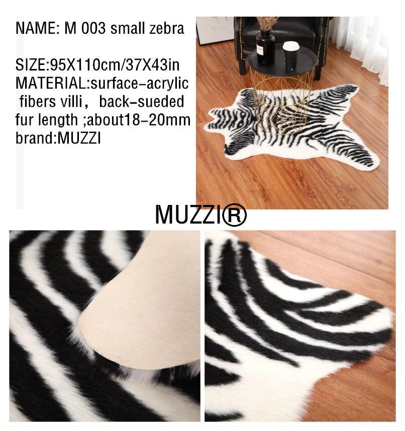 SKU图片_2019_fashion_Cowhide_rug_zebra_stripe_carpet_white_tiger_leopard_faux_skin_fur_villi_black_bea (2)