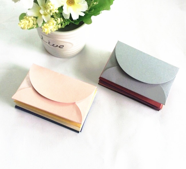 Stationery Retro Creative Color Thick Pearl Paper Envelope Color Branded Mini Membership Card Envelope