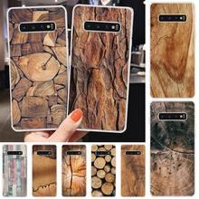 Wumeiyuan Wood Textures TPU Soft Phone Case Cover For Samsung S6 S7 S7 edge S8 S8 Plus S9 S9 Plus S10 S10 plus S10 E(lite) medicine nurse doctor dentist soft edge phone cases for samsung s6 edge plus s7 edge s8 s9 s10 plus lite e note8 note9 cover