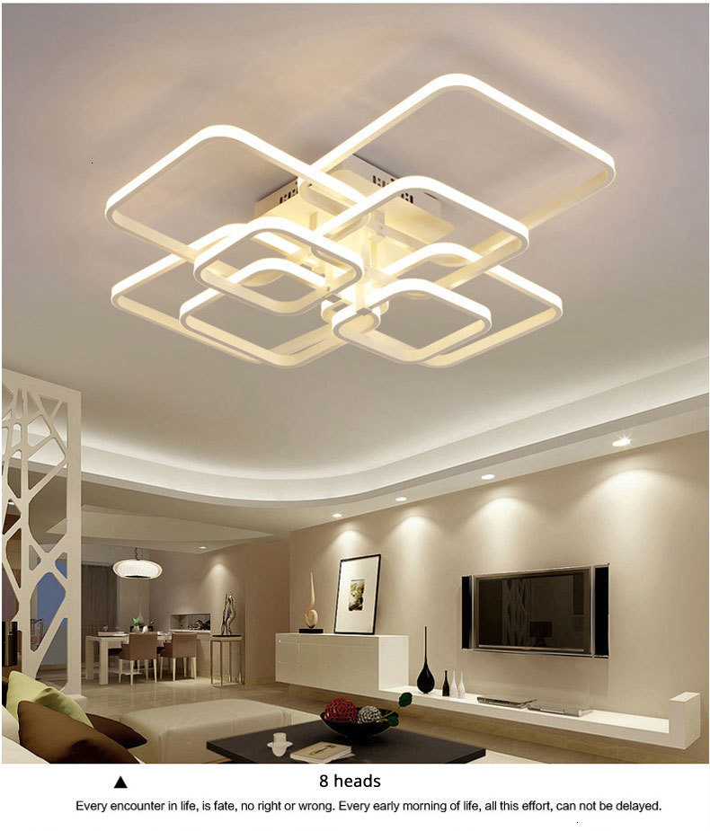 H558be5e80e20430bac4a93a55731902a9 Acylic Ceiling Lights Square Rings For Living Room Bedroom Home AC85-265V Modern Led Ceiling Lamp Fixtures lustre plafonnier