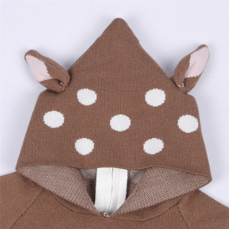 2021 New Kids Girls Knitted Cartoon Sweater Winter Boys Sweater 3D Rabbit Bunny Pullover Baby Girls Winter Clothing 6