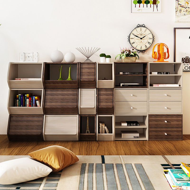 Man Patriarch Combined Bookcase Minimalist Modern Small Cabinet Library Creative Storage Cabinets Bookshelf