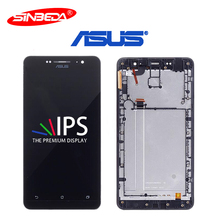 6.0Original LCD For ASUS Zenfone6 A600CG LCD Display Touch Screen Digitizer with Frame Assembly For ASUS A600CG LCD Replacement 5158n fpc 1 lcd touch screen digitizer assembly with frame for asus pad tf300tg
