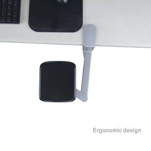 Image 2 - החדש ארגונומי מחשב משענת מתכת זרוע תמיכה מתכווננת זרוע תמיכה שאר יד בית משרד עכבר יד סוגר