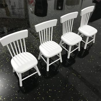 Gorący sprzedawanie 5 sztuk drewniany stół zestaw krzeseł Mini meble dla lalek Model dla 1 12 domek dla lalek zagraj w zabawki domowe tanie i dobre opinie 14 lat 2-4 lat 5-7 lat Dorośli 8 ~ 13 Lat Urodzenia ~ 24 Miesięcy