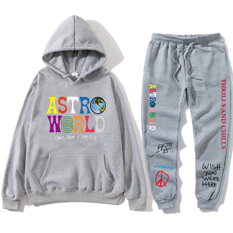 H558c60445f784a2db912bf1df4052785R 2021 TRAVIS SCO ASTROWORLD hope you are here HOODIES fashion letters ASTROWORLD HOODIE streetwear + pants men's pullover sweatshirt