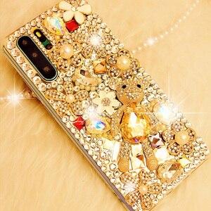 Чехол для телефона Honor 20, 10 lite, 9X, 8C, 8X, со стразами и кристаллами, для huawei Y9 Prime 2019, P40, P30 Pro