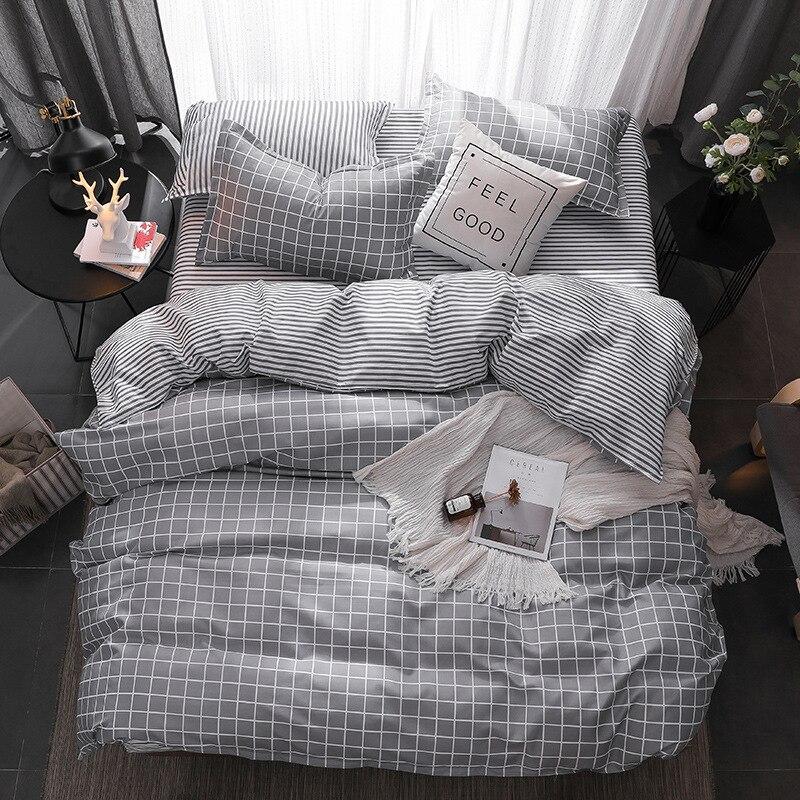 OLOEY Fresh Style home bedding sets bed linen duvet cover flat sheet Bedding Set Winter Full
