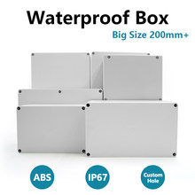 IP67 Waterproof Enclosure Box ABS Plastic Organizer Wire Junction Box Waterproof Electronic Safe Case Plastic Boxes Big Size