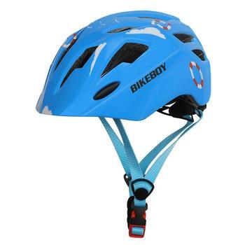 Dzieci tylne światło kaski rowerowe Cartoon Skating dziecko jazda na rowerze bezpieczeństwo czapka jazda rowerem dla dzieci kaski z światło tylne tanie i dobre opinie CN (pochodzenie) 200g 16-20 Iso9000 Lekki kask Children Helmet
