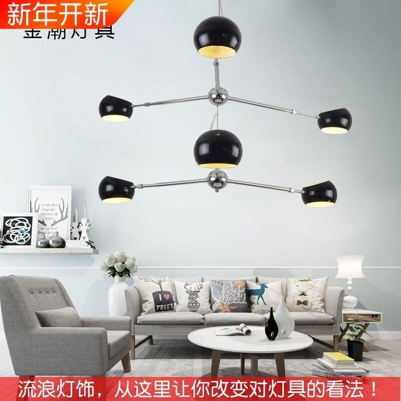 Nordic wrought iron chandelier postmodern electroplating gold bronze geometric line pendant lamp bedroom dining room suspension|Pendant Lights| |  - title=