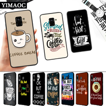 ok but first coffee Silicone Soft Case for Samsung A3 A5 A6 Plus A7 A8 A9 A10 A20 A30 A50 A10S A30S A50S