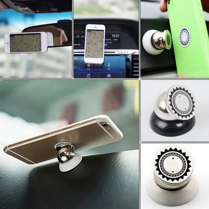 360 Degrees Rotation Magnetic Phone Holder In Car Mount Stand