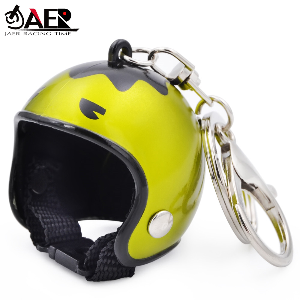Motorcycle Key chain Cute Safety Helmet Hat Knight Hat Car Keychain BagKey Ring