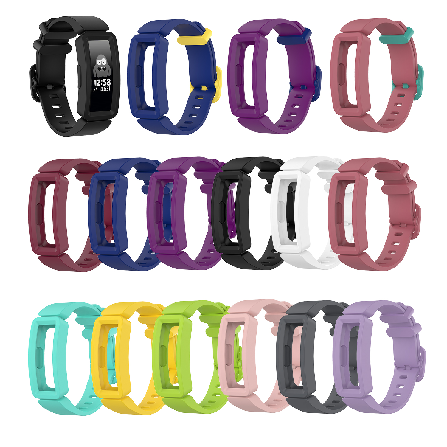 Replacement Classic Silicone Band Strap Wristband Bracelet For Fitbit Ace 2 Kids Watch Band For Inspire/inspire HR Watch Band
