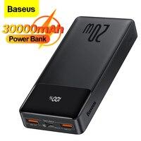 Baseus-Banco de energía de 30000 mAh, cargador de batería de 20W externo portátil, paquete de 30000 mAh para iPhone, Xiaomi, Banco de energía