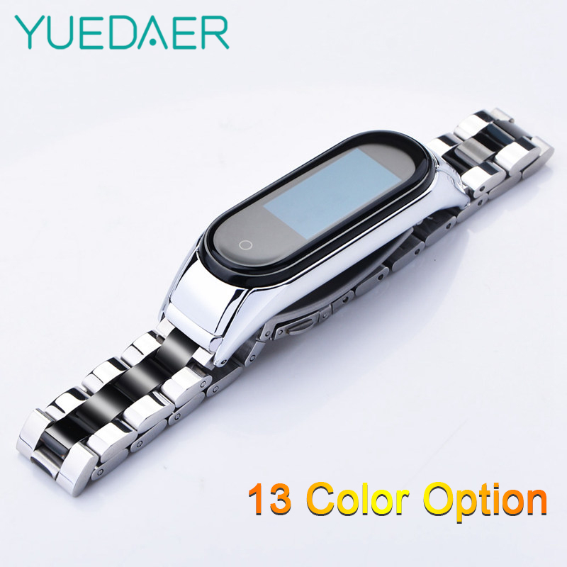 YUEDAER Mi Band 4 Metal Strap For Xiaomi Mi Band 4 Stainless Steel Wrist Strap For Mi Band 4 Bracelet Miband 4 Correa Wristbands