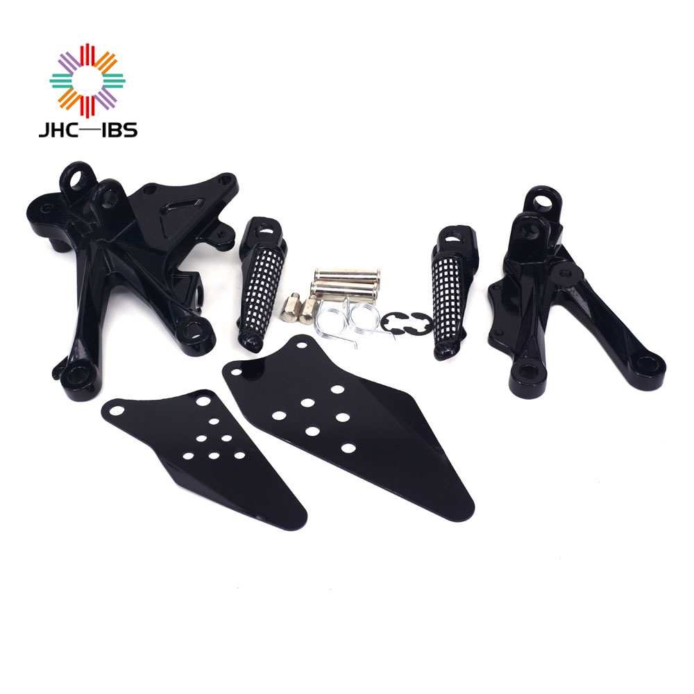 Motorcycle Footrests Front Foot Pegs Pedals Rest Footpegs For KAWASAKI ZX10R ZX-10R 2006-2010 2006 2007 2008 2009 2010
