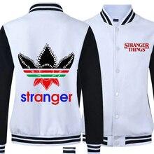 2019 Autumn Stranger Things Hoodies Male Wool Lining Bomber Jacket Baseball Jackets for Man Mens Coat Fleece Keep Warm