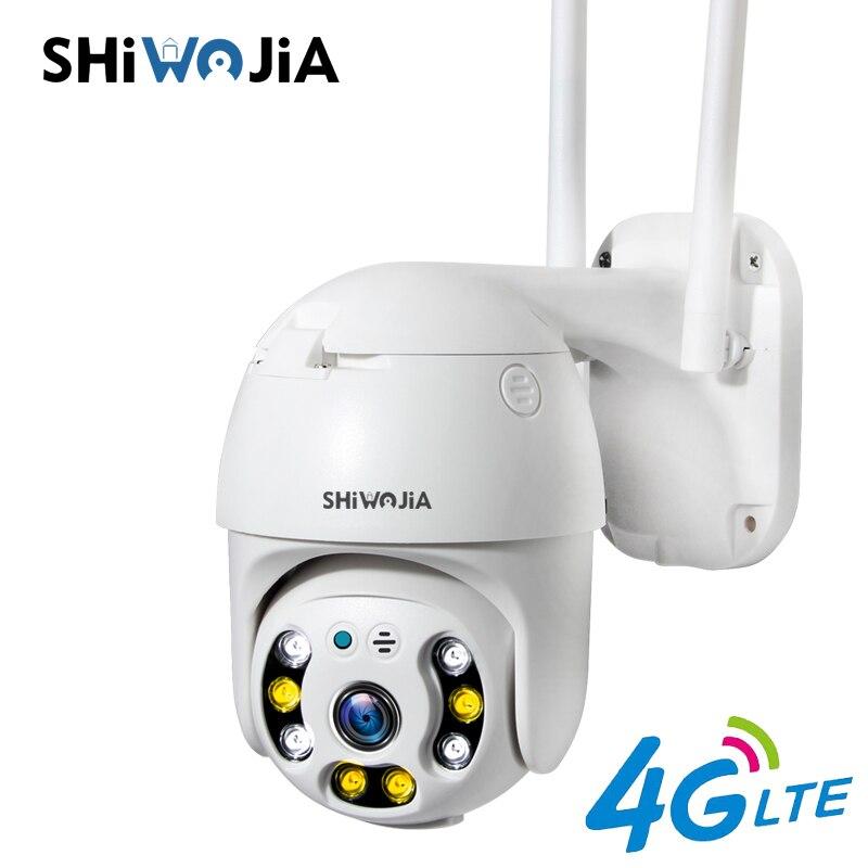 SHIWOJIA 4G SIM CCTV IP камера PTZ наружный монитор безопасности полушария 1080P H.265X CCTV камера мини камера SD карта расширения Камеры видеонаблюдения      АлиЭкспресс