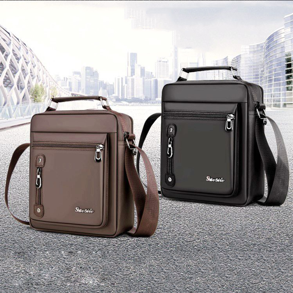 New Oxford Cloth Men's Shoulder Portable Business Bag Fashion Personality Practical Convenient Leisure Commute Solid Color