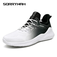 Sorrynam Sneakers Men Flyknit Breathable Casual Male Footwear Light Mens Trainers Tenis Masculino Adulto Support Dropshipping