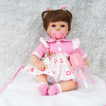 55cm Full Silicone Body Reborn Baby Doll Toy For Girl Handmade Toddler Newborn Princess Babies Bebes Dolls Toys Birthday Gift недорого