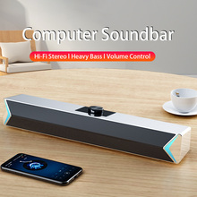 TV Sound Bar AUX USB Wired and Wireless Bluetooth Home Theater FM Radio Surround SoundBar for PC TV Speaker for Computer Phones