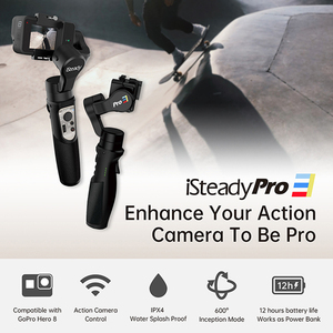 Image 5 - Hohem iSteady פרו 3 3 ציר כף יד Splash הוכחה Gimbal מייצב עבור DJI אוסמו פעולה GoPro גיבור 7 6/5/4/3 Sony RX0 עבור SJCAM