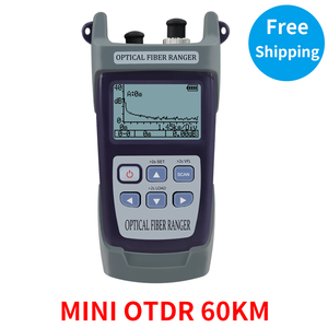 Mini 60KM Fiber Optic OTDR Optical Fiber Reflectometer Built in VFL with FC SC Touch