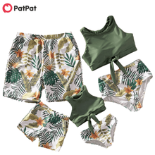 Matching Swimsuits Tankini Beach-Look And Floral Summer Sea Patpat Leaf-Print New-Arrival
