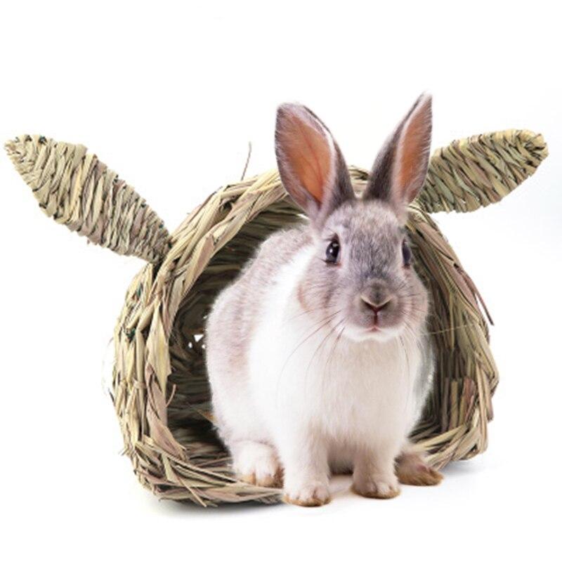 Niedlichen Kaninchen Pet Haus Kopf Gras Nest Umweltschutz Kaninchen Hütte Totoro Guinea Hamster Igel Stroh Kleine Pet