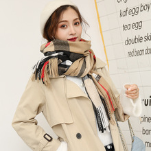 autumn/winter SKY classic plaid scarf for female European, American and British style imitation cashmere bristle lover's shawl