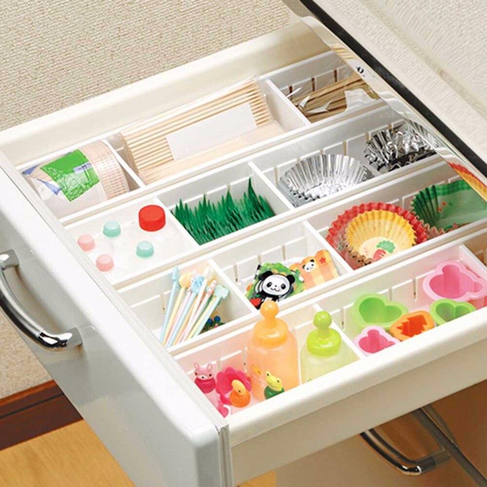 CreativeDesign Adjustable Drawer Organizer Home Kitchen Board Free Divider Makeup Tableware Storage Box in Storage Boxes Bins from Home Garden
