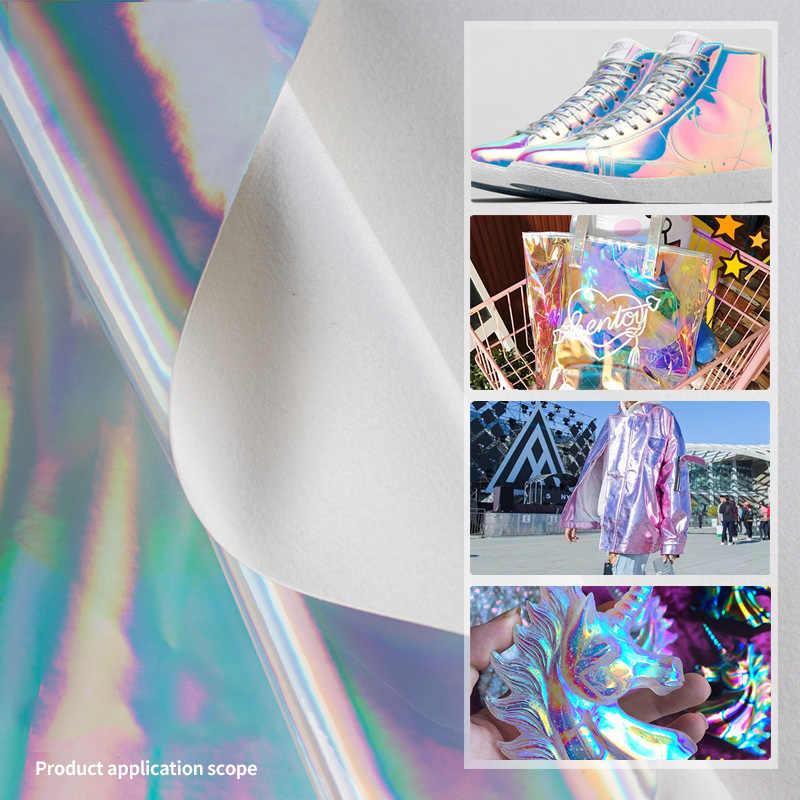 25cm * 34cm Laser Glatte faux leder stoff DIY Handgemachte Kleidung Nähen Zubehör Liefert Tasche Schuhe Nähen Material