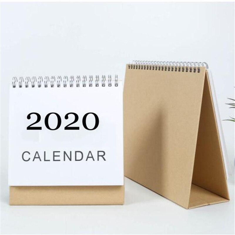 Desk Calendar,Calendar Desk-Top Flip Calendar Stand Up Office Table Planner,Everyday Desk Calendar 2019