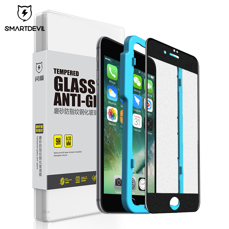 Smartdevil Tempered-Glass Screen-Protector Protective-Film Apple iPhone 8-Plus Matte