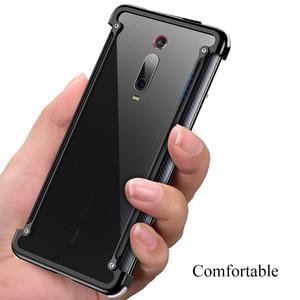 Image 3 - OATSBASF Airbag Bumper Metal Case For Xiaomi Redmi K20 Case Personality Metal Cover Case For Xiaomi Redmi K20 Pro Case