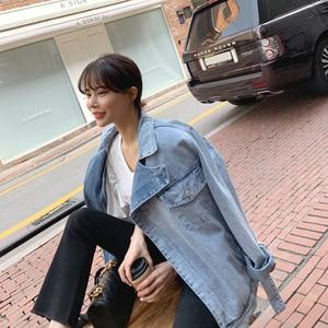 Image 5 - GALCAUR סימטרי ינס נשים של מעילי דש צווארון ארוך שרוול תחרה עד נשי מעיל 2020 סתיו גדול אופנה חדש בגדים