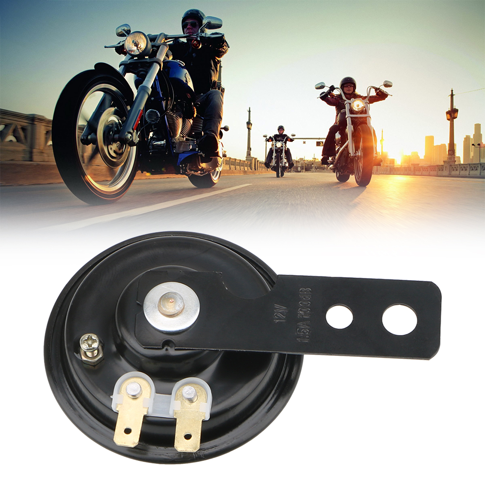 LEEPEE Universal 12V Horn 1.5A 105db  Motorcycle Electric Horn Kit Waterproof Round Loud Horn Speakers Signal For Motorcycle