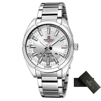 NAVIFORCE Brand Men Watches Business Quartz Watch Men's Stainless Steel Band 30M Waterproof Date Wristwatches Relogio Masculino 10