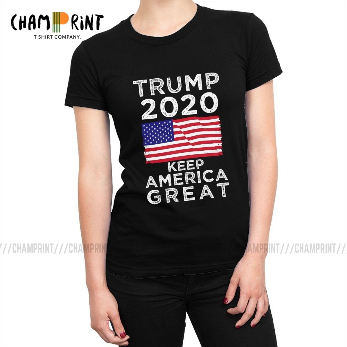 Женская футболка с надписью «Keep America Great», с изображением Трампа 2020, футболки с избирательным тоном и политикой, модная футболка, женские топ...