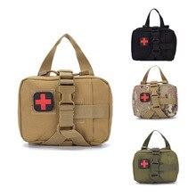 屋外のキャンプ救急箱の戦術的な医療ポータブル軍事ハイキング医学パッケージ緊急オックスフォード生地のウエストパック