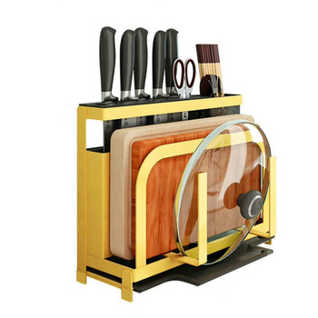Kitchen supplies, tool storage rack, multi-function, cutting board, chopsticks, cage knife, knife holder, rack